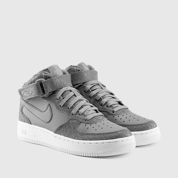 innovative design 7d3ab 521c5 Nike Air Force 1 mid lv8 grey white shoes women s